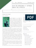 El Genocidio de Rwanda y Otros Temas de África_ Algunas Veces en Abril