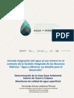 Determiacion de linea base ambiental de los salares de Uyuni y CoipasaAgua y Mineria