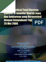 Analisa vertical TEC