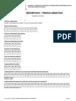 Quadrix 2012 Dataprev Analista de Tecnologia Da Informacao Administracao de Pessoal e Beneficio Gabarito