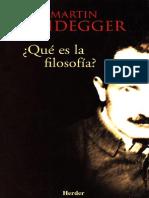 Heidegger 1956 Que Es La Filosofia