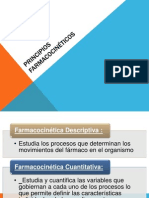 PRINCIPIOS FARMACOCINÉTICOS