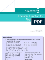 Transfer Function for Aircraft Motion (Flight Control Design Lecture)