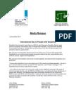 DDLS Villamanta Media Release IDPwD 3 Dec 14
