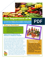 kin newsletters about nutrition