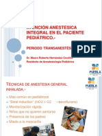Atención Anestesica Integral en El Paciente Pediátrico II