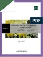 Guia Estudio Grado Parte 2 Microeconomía (Produción y Mercados) Curso 2014 15