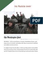 NATO Slams Russia Over Ukraine