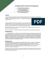 Medición de Una Resistencia NTC en Función de La Temperatura (1)