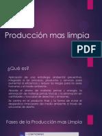 Producción Mas Limpia y procesos ecoeficientes