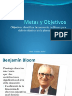 Objetivos y Metas Benjamin Bloom