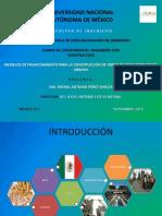 MODELOS DE FINANCIAMIENTO PARA LA CONSTRUCCIÓN DE OBRAS DE INFRAESTRUCTURA URBANA