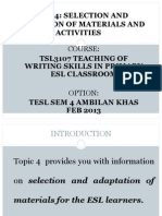 Tsl3107-4-Selection & Adaptation of Materials & Activities