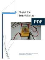 electric fan sensitivity lab