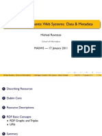 Rovatsos - 2 Multi-Agent Semantic Web Systems - Data Metadata