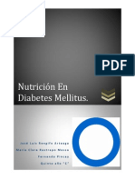 Nutrición en Diabetes Mellitus