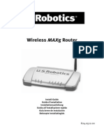 US Robotics Model 5461 Router Install Guide