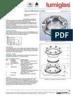 Lumiglass DIN28120 Circular Sightglass Fitting