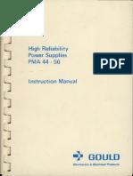 GouldPma44-56PowerSuppliesInstructionManual