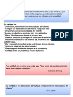 Calidad, metodología de proyectos