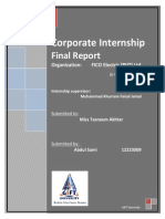 Final Report FICO (Pvt) Ltd