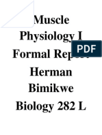 Muscle Physiology Formal Report