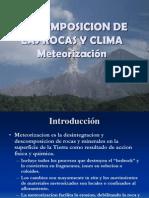 Descomposicion de Rocas, Clima Sem. 5