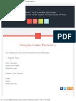 Floorplan Control Parameters