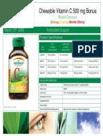 2883- Bonus Chewable Vitamin C 500 Mg Mixed Flavours Sellsheet