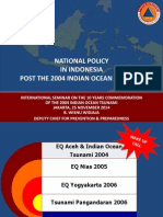 NATIONAL POLICY IN INDONESIA POST THE 2004 INDIAN OCEAN TSUNAMI