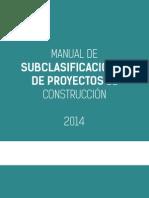 Manual Subclasificacion de proyectos