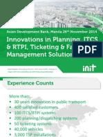 ITS Innovations in Public Transport (26Nov)