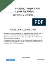 Flujo de Cajas, Proyección y Rentabilidad