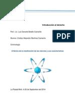Clasificación de Las Ciencias y Sus Características