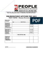 Aptitude Test -HR Executive