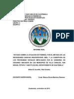 Estudio de La Pobreza Por El Método NBI en La Aldea El Jocotillo, Municipio de Villa Canales, Guatemala