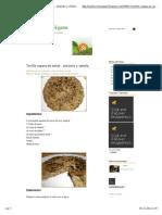 Tortilla Vegana de Seitán , Pimiento y Cebolla .