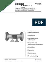 SAD Steam Atomising Desuperheater-Installation Maintenance Manual
