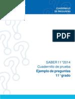 Cuadernillo Saber 11 2014 2