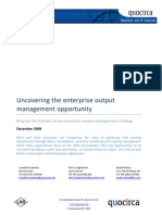 Uncovering the enterprise output management opportunity