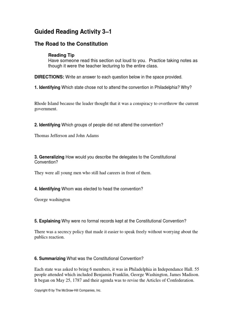 chapter 3 rg constitutional convention united states united rh pt scribd com guided reading activity 3-1 psychology answers guided reading activity 3-1 answers