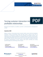 Turning customer interaction into profitable relationships