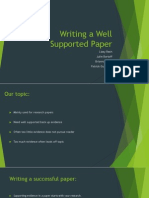 writing a well supported paper 1