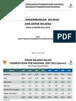 Arah Pengembangan Wilayah dan Antarwilayah dalam Rancangan Awal RPJMN 2015-2019