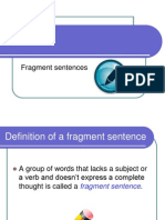 ENG 101 - Fragments - Explanation