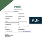 Bukti Pendaftaran Rekrutment BANK BPD BALI TAHUN 2012