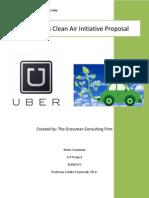 Uber's Clean Air Initiative Proposal