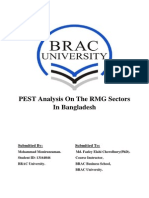 PEST Analysis on the RMG Sectors in Bangladesh by Mohammad Moniruzzaman