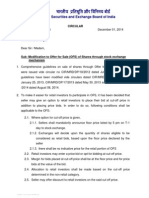 Modification to Offer for Sale (OFS) of Shares through stock exchange mechanism