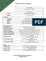 Wastewater Math Formula Sheet